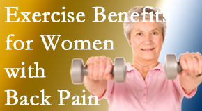 Most Chiropractic Clinic shares recent research about how beneficial exercise is, especially for older women with back pain.