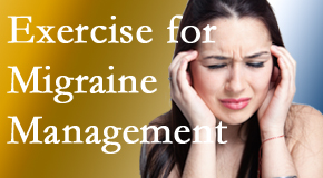Most Chiropractic Clinic incorporates exercise into the chiropractic treatment plan for migraine relief.