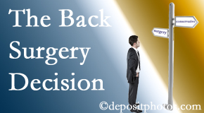 Murfreesboro back surgery for a disc herniation is an option to be carefully studied before a decision is made to proceed.