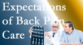 The pain relief expectations of Murfreesboro back pain patients influence their satisfaction with chiropractic care. What is realistic?
