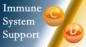 Most Chiropractic Clinic presents details about the benefits of vitamins C and D for the immune system to fight infection.