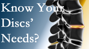 Your Murfreesboro chiropractor thoroughly understands spinal discs and what they need nutritionally. Do you?