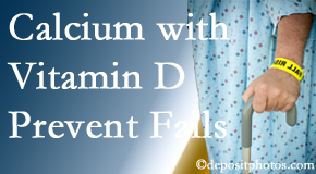 Calcium and vitamin D supplementation may be suggested to Murfreesboro chiropractic patients who are at risk of falling.