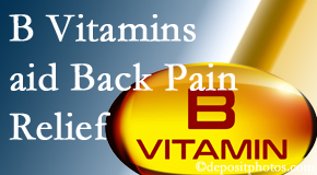 Most Chiropractic Clinic may include B vitamins in the Murfreesboro chiropractic treatment plan of back pain sufferers.