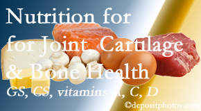 Most Chiropractic Clinic explains the benefits of vitamins A, C, and D as well as glucosamine and chondroitin sulfate for cartilage, joint and bone health.