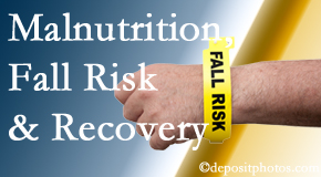 Most Chiropractic Clinic checks patients for fall risks which include nutritional status and malnutrition indicators.