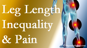 Most Chiropractic Clinic tests for leg length inequality as it is related to back, hip and knee pain issues.