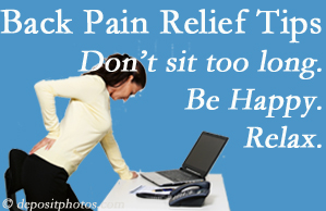 Most Chiropractic Clinic reminds you to not sit too long to keep back pain at bay!