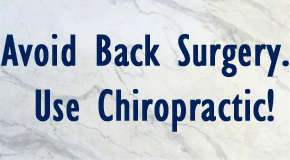 image of chiropractic alternative to back surgery