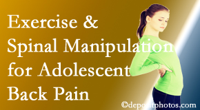 Most Chiropractic Clinic uses Murfreesboro chiropractic and exercise to relieve back pain in adolescents.