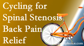 Most Chiropractic Clinic encourages exercise like cycling for back pain relief from lumbar spine stenosis.