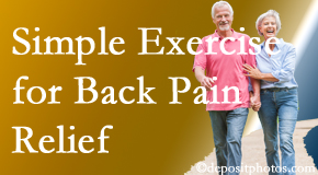 Most Chiropractic Clinic suggests simple exercise as part of the Murfreesboro chiropractic back pain relief plan.