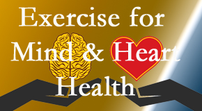 A healthy heart helps maintain a healthy mind, so Most Chiropractic Clinic encourages exercise.
