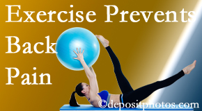 Most Chiropractic Clinic encourages Murfreesboro back pain prevention with exercise.