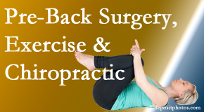 Most Chiropractic Clinic offers beneficial pre-back surgery chiropractic care and exercise to physically prepare for and possibly avoid back surgery.