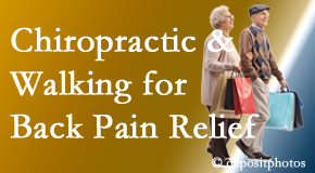 Most Chiropractic Clinic encourages walking for back pain relief along with chiropractic treatment to maximize distance walked.