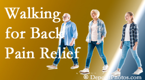 Most Chiropractic Clinic often recommends walking for Murfreesboro back pain sufferers.