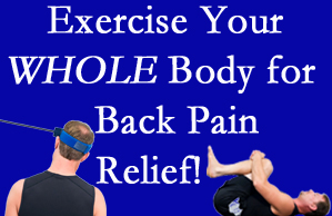 Murfreesboro chiropractic care includes exercise to help enhance back pain relief at Most Chiropractic Clinic.