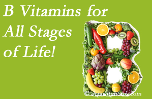 Most Chiropractic Clinic urges a check of your B vitamin status for overall health throughout life.