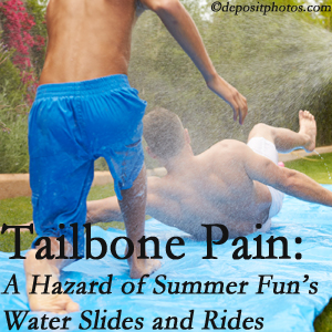 Most Chiropractic Clinic offers chiropractic manipulation to ease tailbone pain after a Murfreesboro water ride or water slide injury to the coccyx.