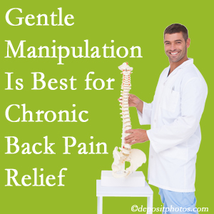 Gentle Murfreesboro chiropractic treatment of chronic low back pain is best.