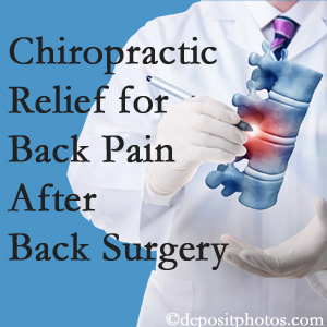 Most Chiropractic Clinic offers back pain relief to patients who have already undergone back surgery and still have pain.