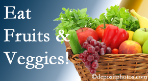 Most Chiropractic Clinic urges Murfreesboro chiropractic patients to eat fruits and vegetables to reduce inflammation and potentially live longer.