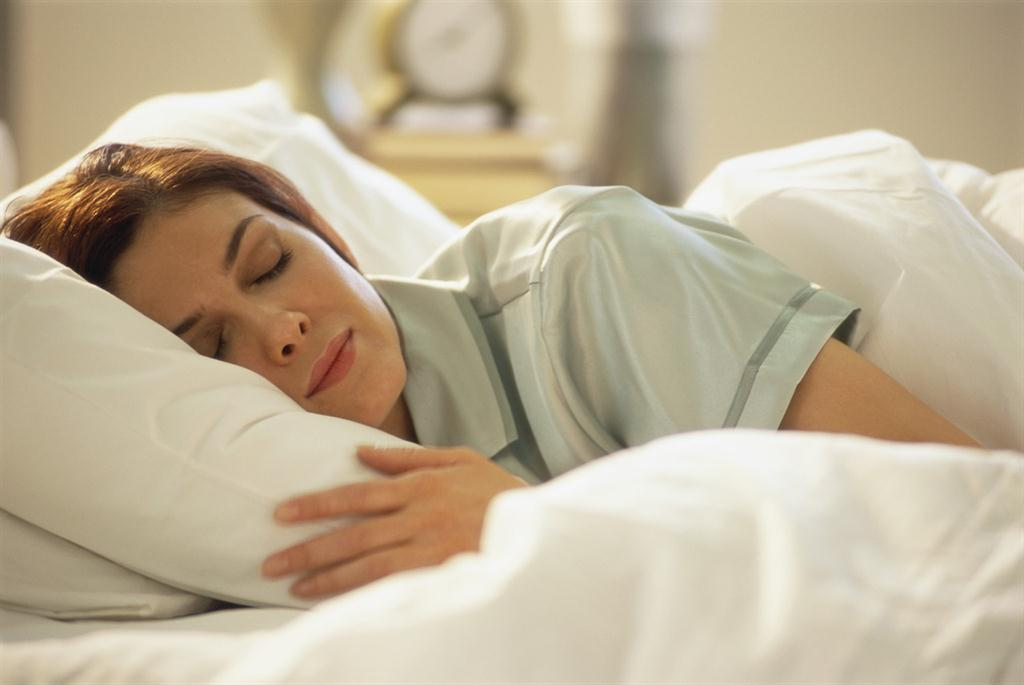 image of woman sleeping